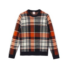 Large check sweater